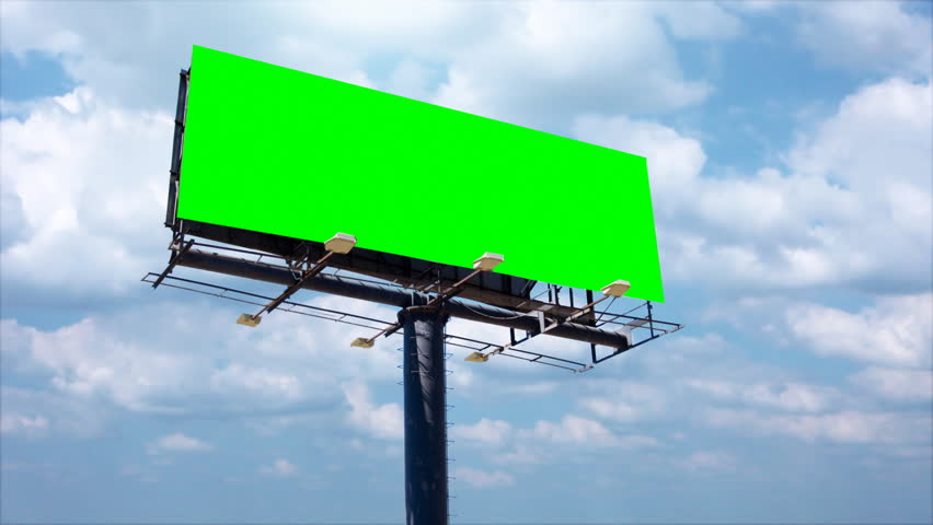 Advertising billboard high in the sky, left blank for titles. | Shutterstock HD Video #4501595