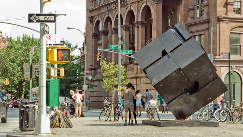 NEW YORK - AUGUST 20: The Cube in Cooper Square on August 20, 2013 in New York. Alamo, also known as