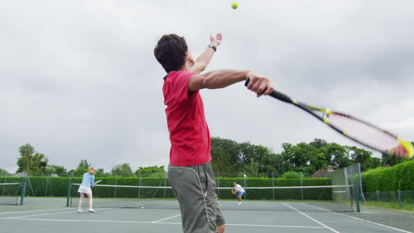 Young People Playing Tennis Stock Footage Video 100 Royalty Free 4509296 Shutterstock