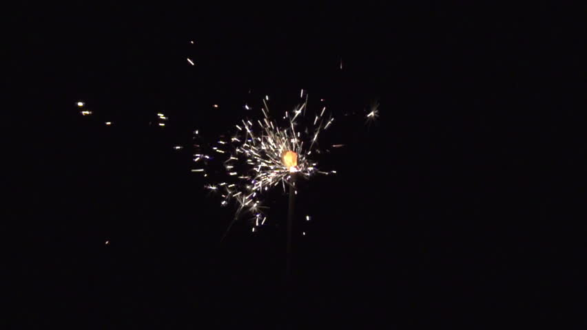Christmas sparkler with shiny glare in slow motion, high speed video | Shutterstock HD Video #4516505