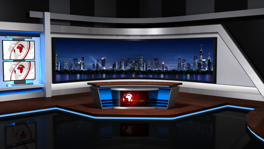 The real TV news studio,Loopable, | Shutterstock HD Video #4518272
