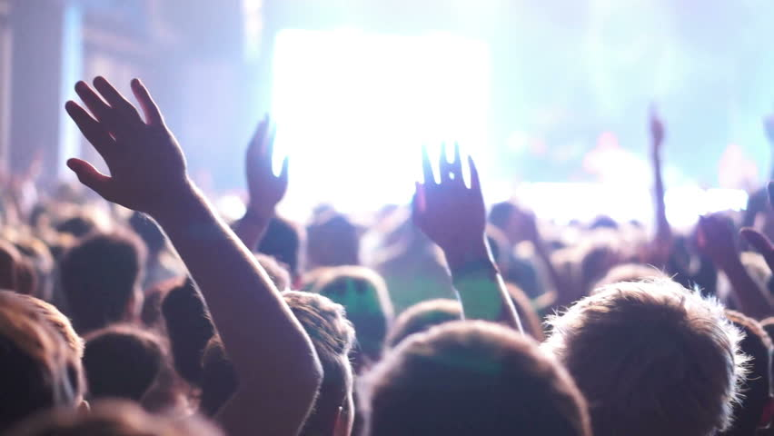 Concert Crowd, slow motion, also normal speed version of this video available in my portfolio #4518905