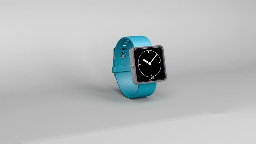Smart watch on gray background   Shutterstock HD Video #4521902