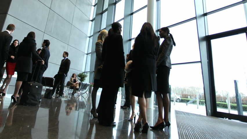 Time lapse of business people inside a modern office building | Shutterstock HD Video #4522694