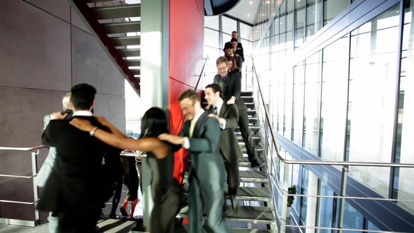 Business people inside a modern office building. | Shutterstock HD Video #4522808