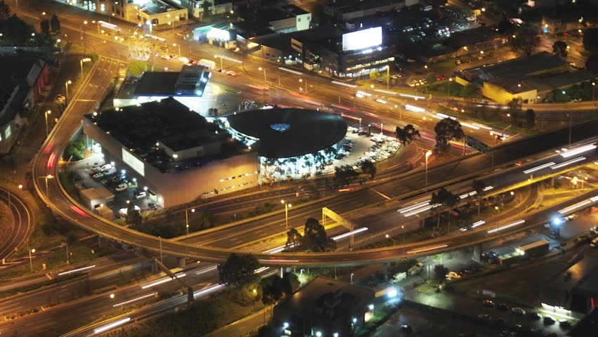 Time lapse video of cars at night in Melbourne showing typical traffic congestion | Shutterstock HD Video #4524242