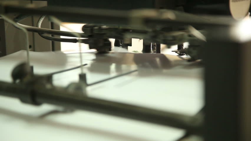 Equipment for commercial printing, close-up, with sound 3 | Shutterstock HD Video #4525514
