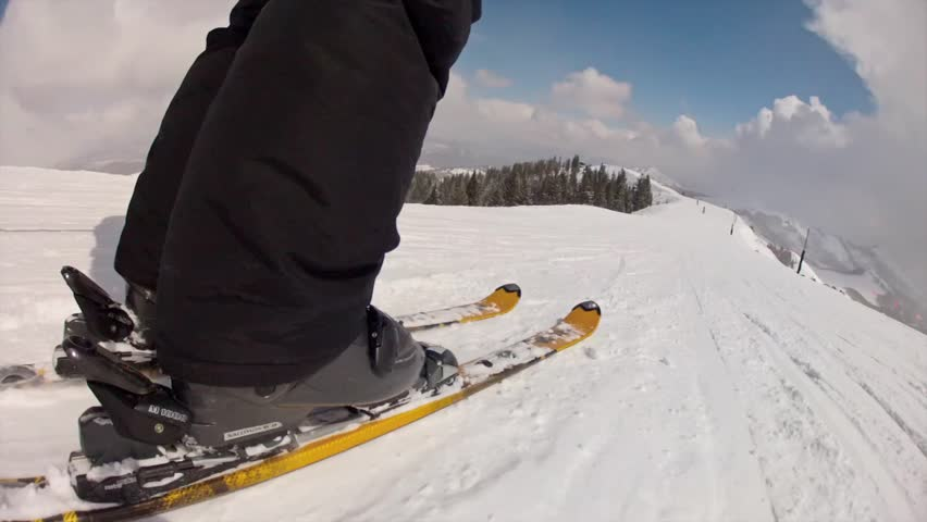 Downhill skiing at Park City Mountain Resort in Utah