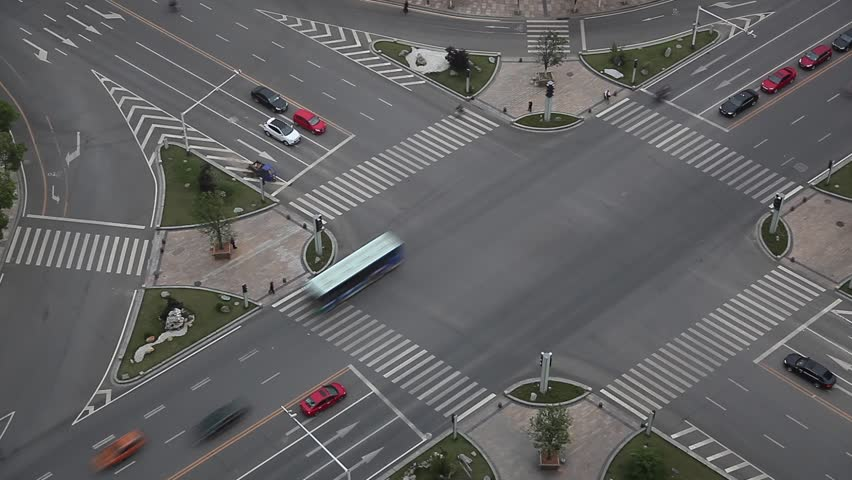 Traffic on junction in city | Shutterstock HD Video #4548527