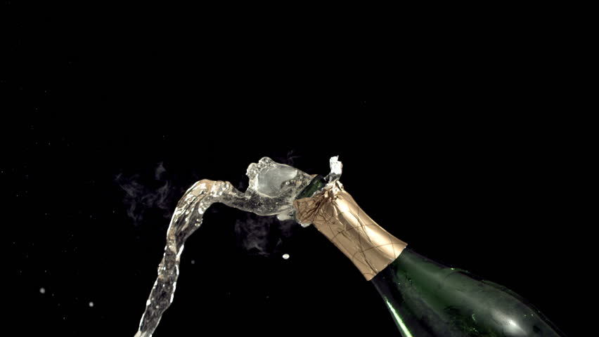 New Year's Champagne, Slow Motion #4553306