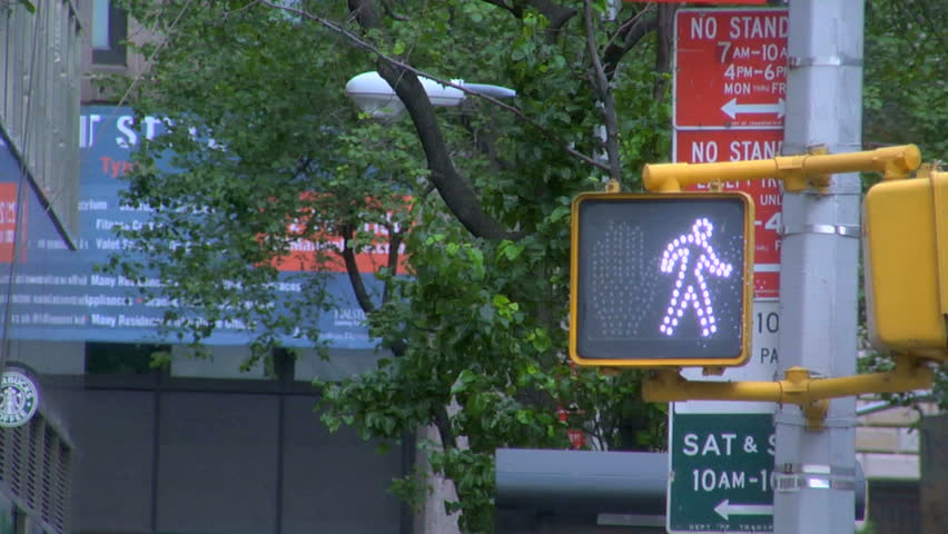 Walk and don't walk sign on a road intersection | Shutterstock HD Video #4558661