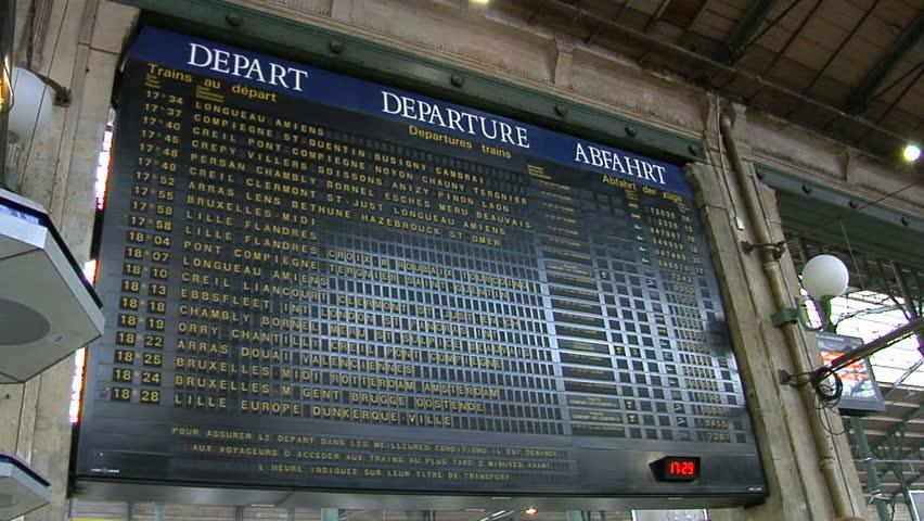 Shot of a train departure board . | Shutterstock HD Video #4559399