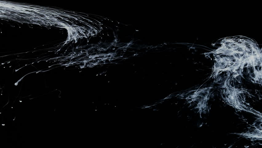 White ink floating in water like fog in space against black background | Shutterstock HD Video #4568369