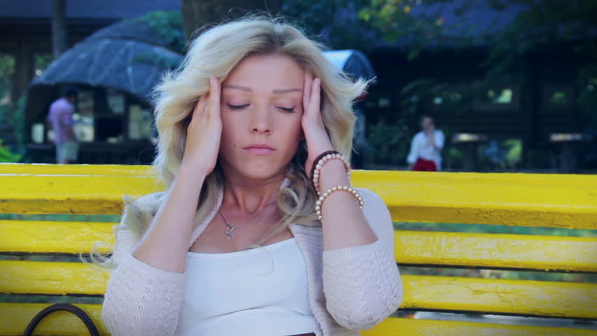 Sad woman close having headache broken relationships heart break