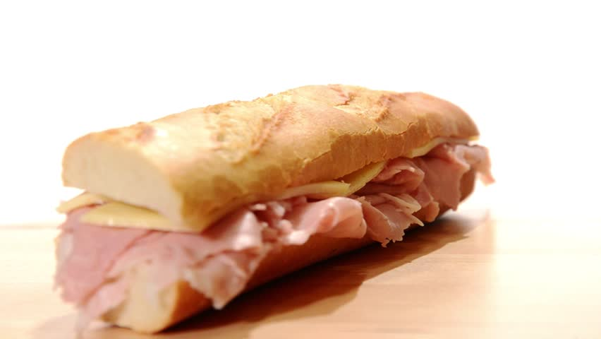 Ham and cheese sandwich | Shutterstock HD Video #4573415