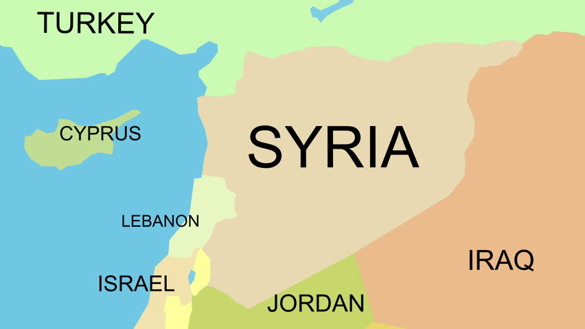 Accurate Syria map with capital, cities, neighbors. Can be used with text layers, without text layers, static or zoom in. Perfect for news, documentaries, demonstration of conflict events.