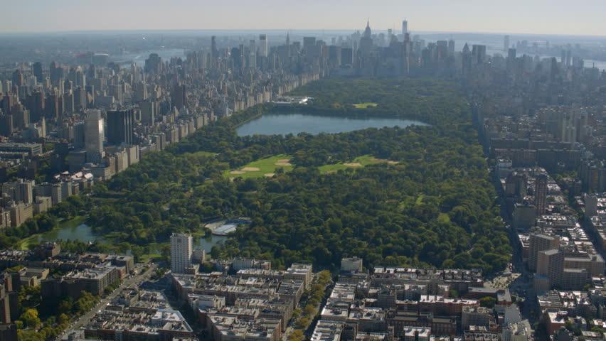 Aerial shot of Central Park, New York City