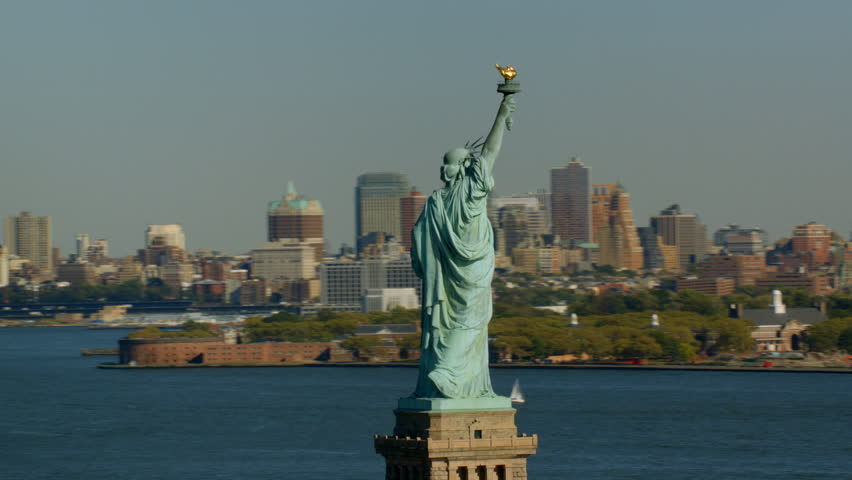 Statue of Liberty and Manhattan, New York City | Shutterstock HD Video #4580069