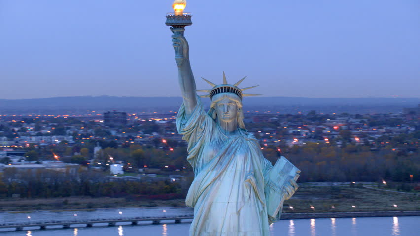 Statue of Liberty at dusk | Shutterstock Video #4580147