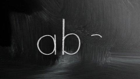 Abc Handwritten With White Chalk On A Blackboard