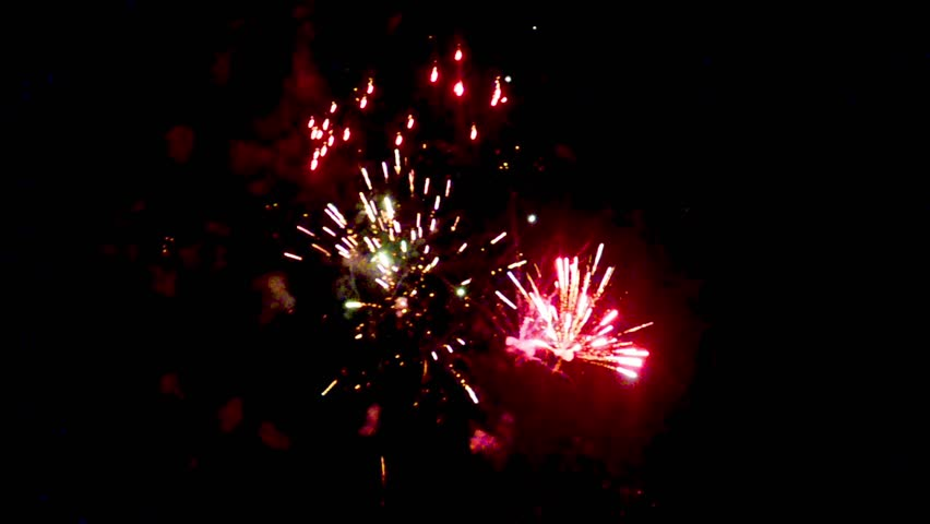 Fireworks - Red, White and Blue. Spectacular Fireworks Finale in HD