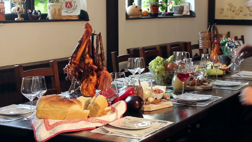 Traditional Balkan food (Balkan restaurant)