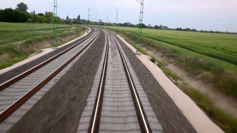 Railway view of a trainride