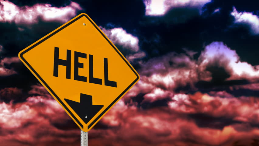 Sign from Hell.