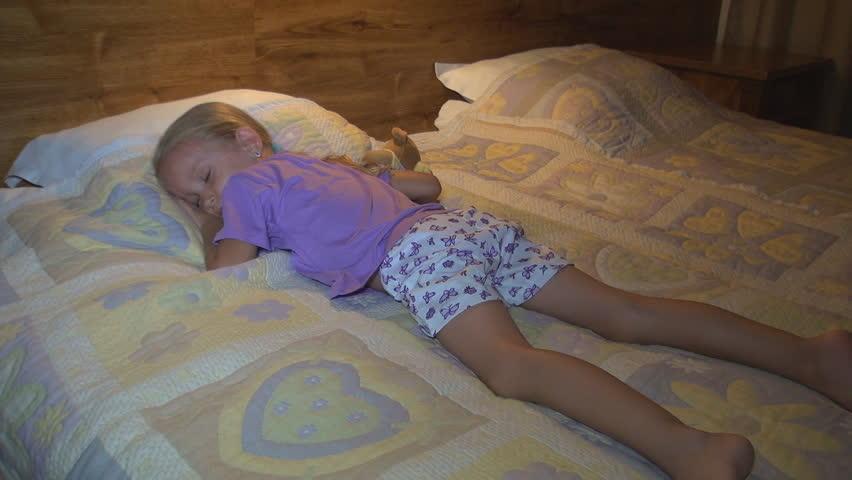 Girl sleeping in panties