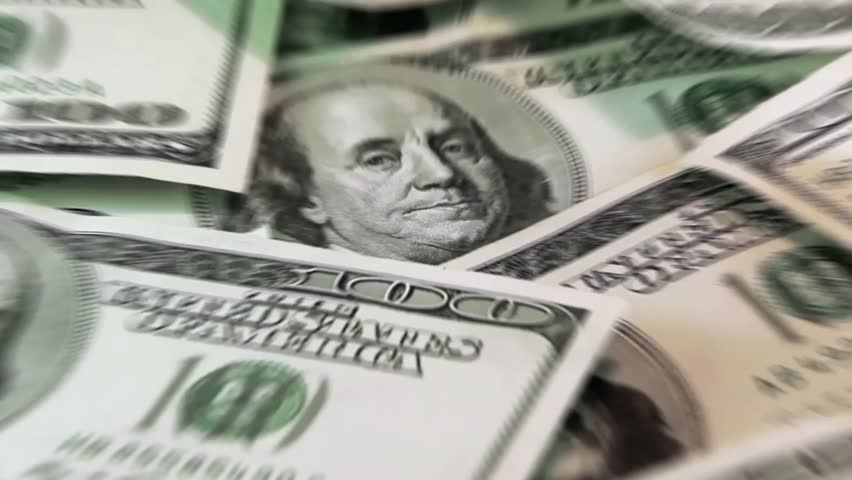 American dollars. Low zoom with blur effect | Shutterstock HD Video #4658912