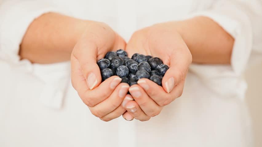 Young Woman Harvesting Berries