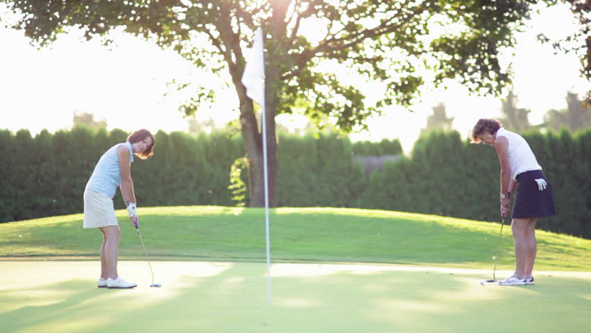 Golf Woman Stock Footage Video - Shutterstock