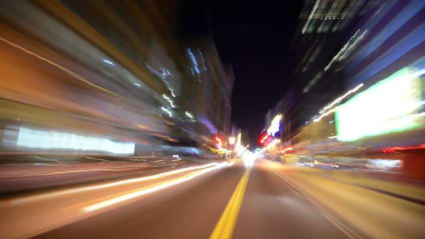 Driving POV Timelapse 36 LA Downtown Freeway Night | Shutterstock HD Video #4670510
