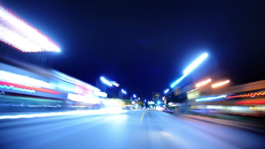 Driving POV Timelapse 10 LA Night Non Stop VJ Loop | Shutterstock HD Video #4670552