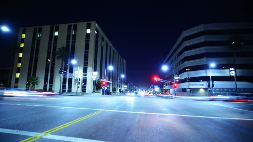 Intersection Traffic Timelapse 06 Loop LA Downtown Night | Shutterstock HD Video #4670600