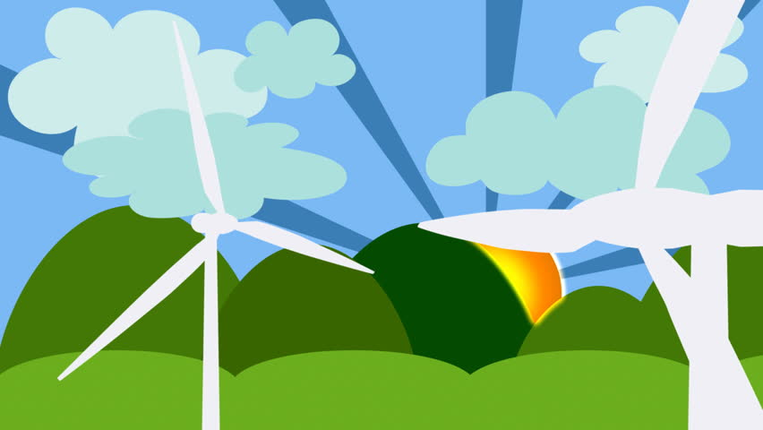Wind turbines farm. 20 seconds loop  | Shutterstock HD Video #469708
