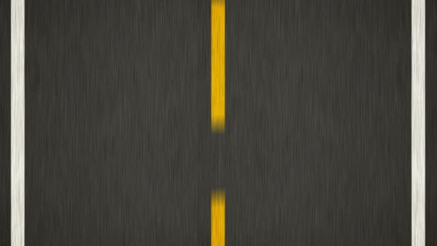 Yellow Line On New Asphalt Road. Top view. | Shutterstock HD Video #4699283