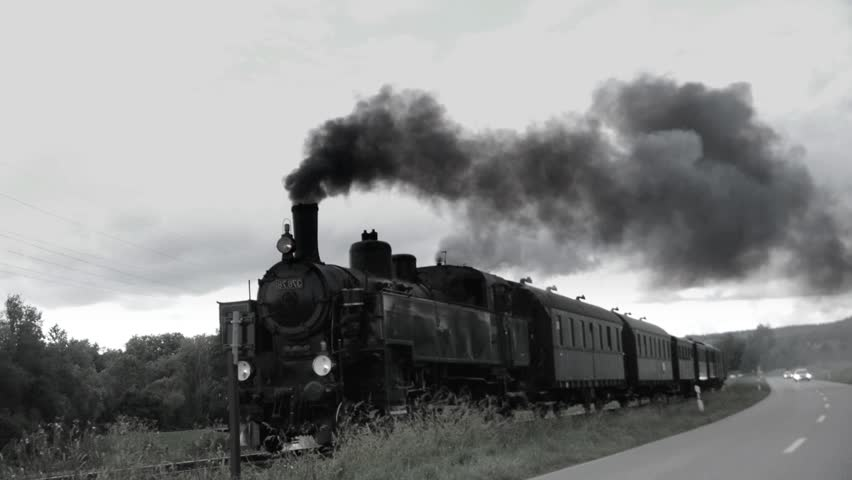 Steam Engine. Steam Locomotive. Historic Stock Footage Video ...