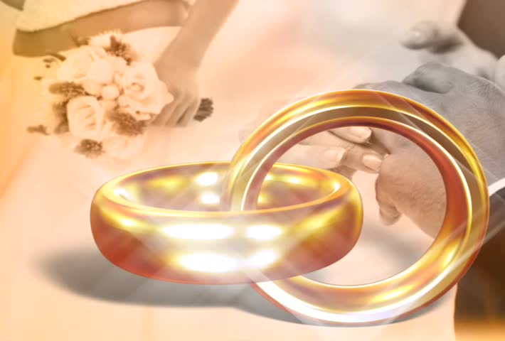 Wedding Rings Sd Stock Video Clip