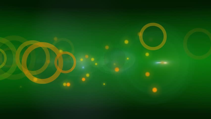 Green circles and dots abstract background
