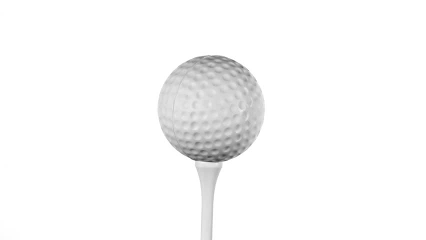 Golf Ball Rotates On Tee Stock Footage Video 100 Royalty Free 471901 Shutterstock
