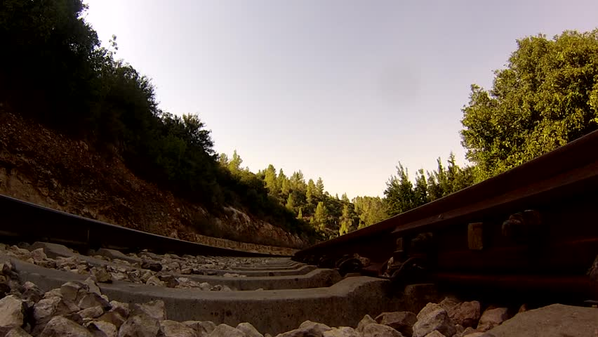 Train crossing over the camera