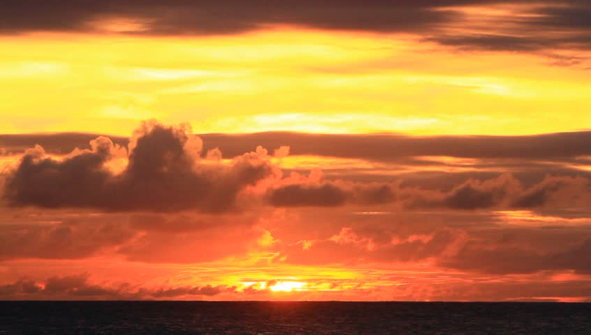 Golden Sunset with Yellow Clouds | Shutterstock HD Video #4737083