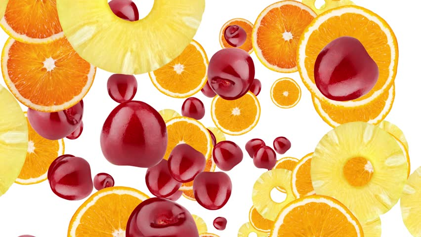 Cocktail fruit theme animation