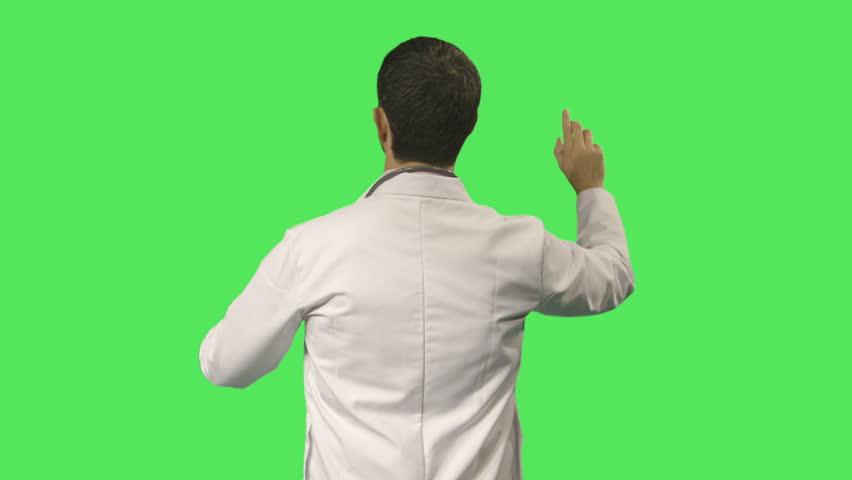 Male scientist touching screen | Shutterstock HD Video #4750931