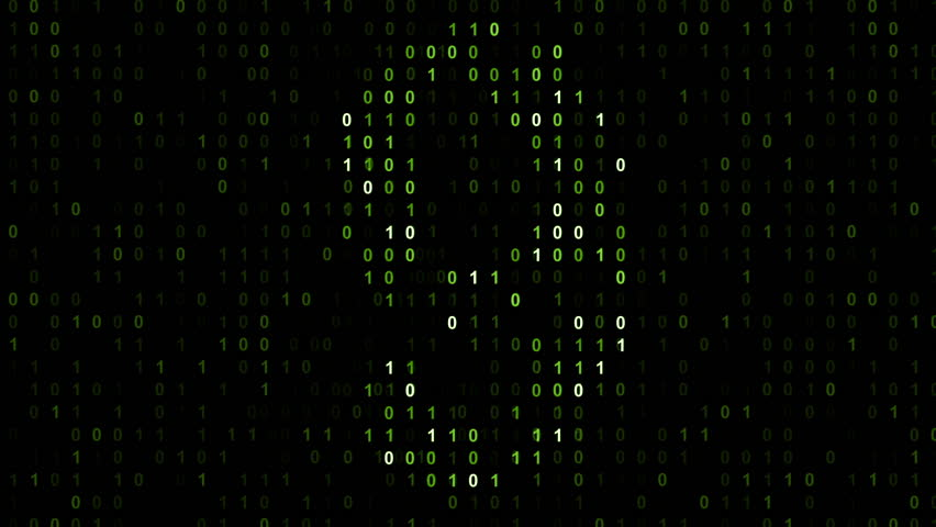 Blinked countdown with binary code black screen  with green cypher   Shutterstock HD Video #4754474