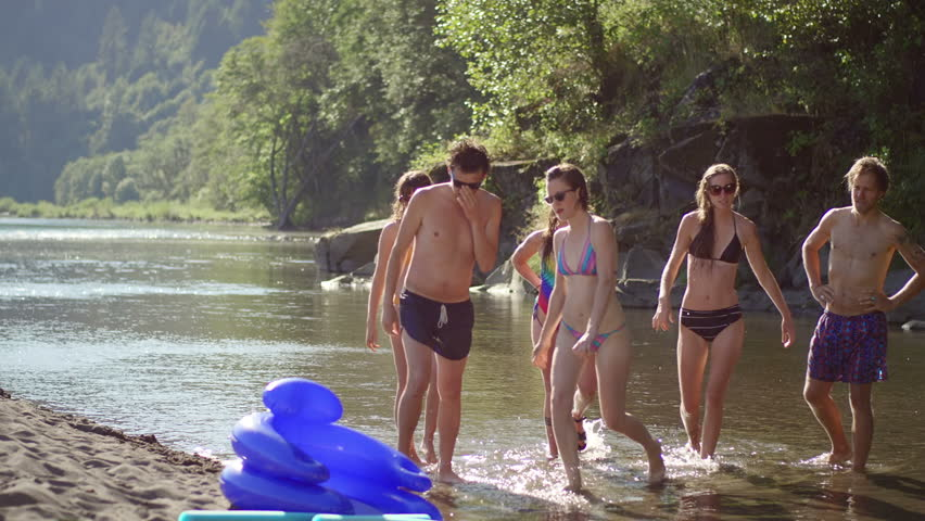 A Group Of Friends Walk Stock Footage Video 100 Royalty Free 4754777 Shutterstock