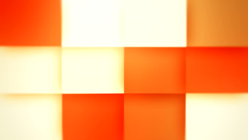 Abstract color boxes seamless  background orange Geometric modern Surface Loop light neon bright clean minimal box grid pattern random waving motion background canvas in pure wall architectural orange #4778456