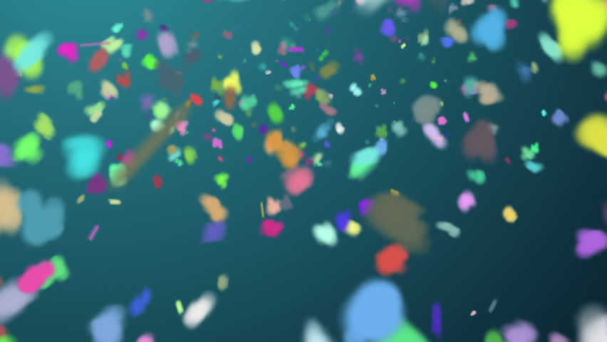 Rainbow snow background - 1080p Multicolor particles flying around a green background. Full HD   Shutterstock HD Video #4782236
