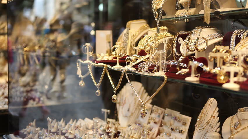 Jewellery on display